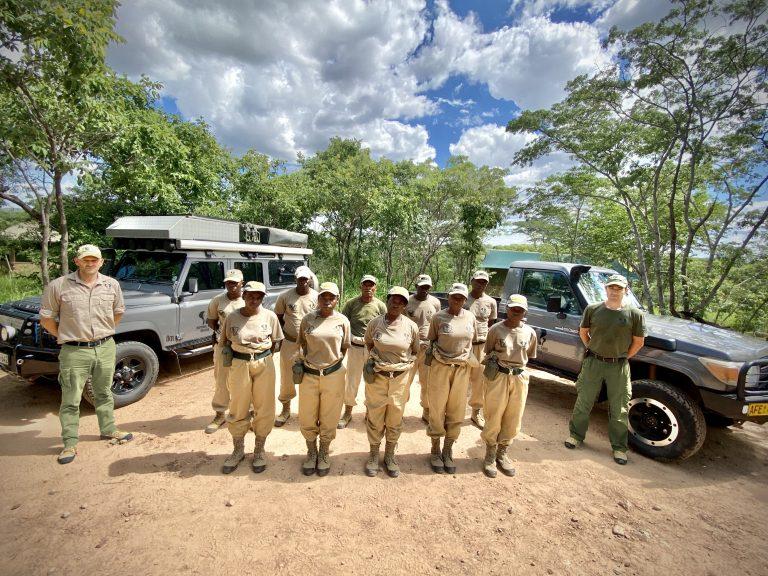 All-female ranger team with Mark Hiley