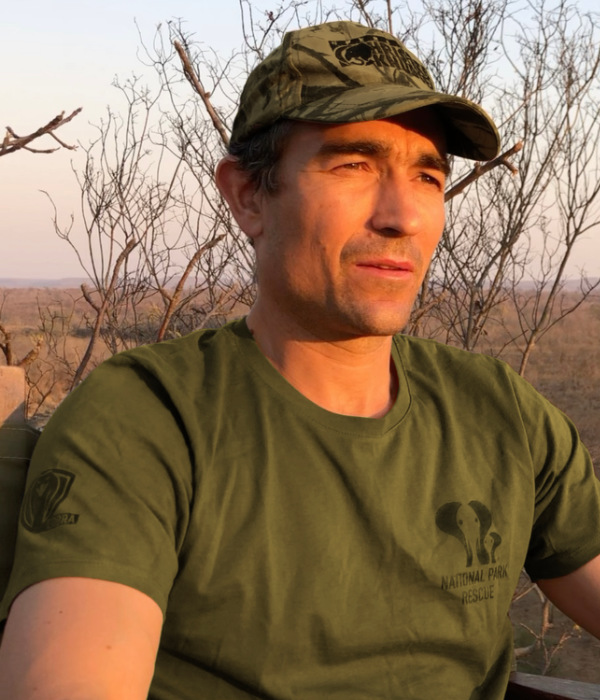 Dr Niall McCann of National Park Rescue in Zimbabwe