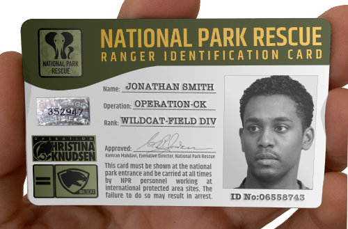 National Park Rescue ranger card