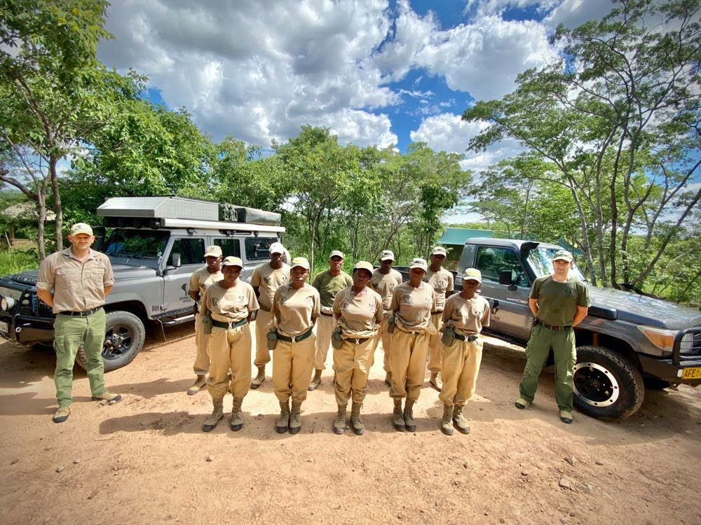 All-female ranger team with Mark Hiley